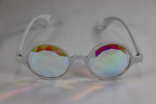 Load image into Gallery viewer, Diamond - Round Kaleidoscope Glasses - White Frame