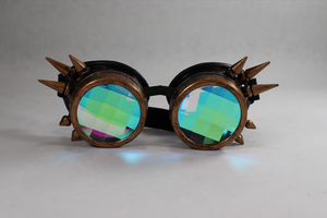 Copper Spike Kaleidoscope Goggles - Pane Lenses