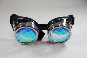 Chrome Kaleidoscope Goggles - Pane Lenses