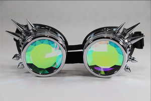 Chrome Kaleidoscope Goggles - Diamond Lenses