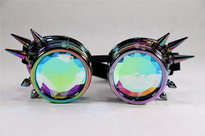 HoloChrome Spike Kaleidoscope Goggles - Diamond Lenses