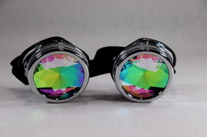 Chrome Kaleidoscope Goggles - Star Lenses