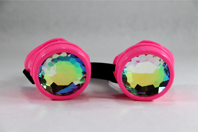 Pink Kaleidoscope Goggles - Star Lenses
