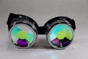 Chrome Kaleidoscope Goggles - Portal Lenses
