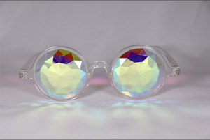 Diamond Kaleidoscope Glasses - Assorted Round Frames