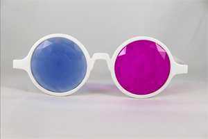 Pink & Blue Kaleidoscope Glasses - Assorted Round Frames