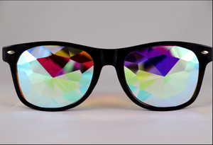 Diamond Kaleidoscope Glasses - Assorted Wayfarer Frames