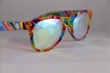 Load image into Gallery viewer, Diamond Kaleidoscope Glasses - Assorted Wayfarer Frames