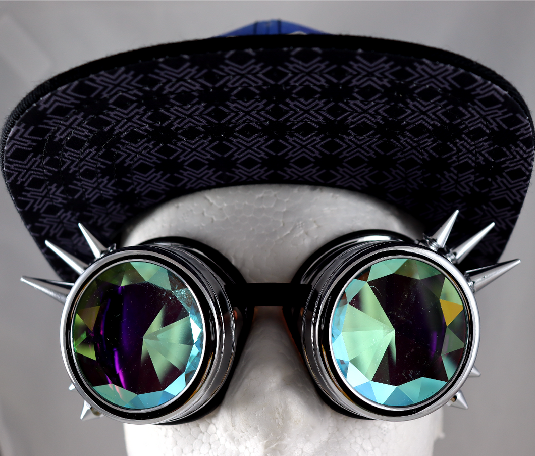 Diamond Kaleidoscope Goggles - Spike Frames