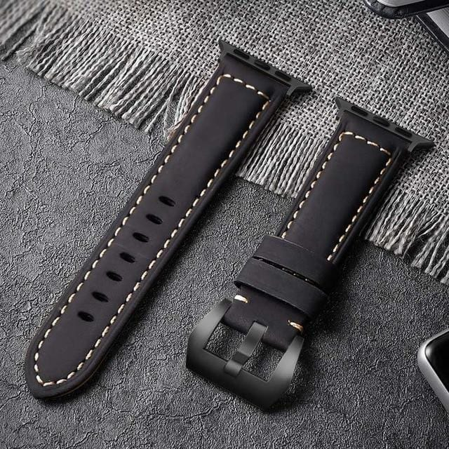 Handmade Leather Strap For Apple Watch