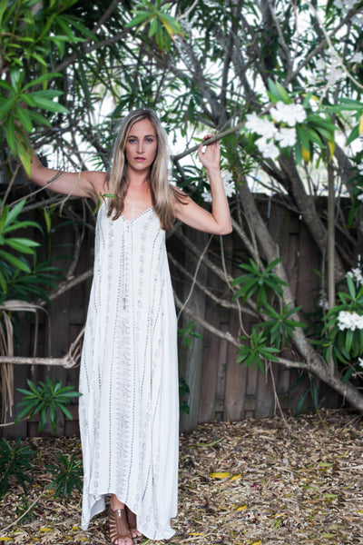 Lace-Up Maxi Dress