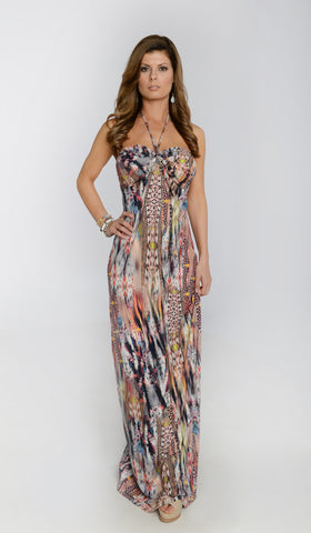 Pisces Maxi Halter Dress -  - 1