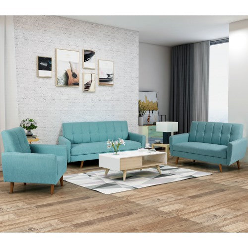Prime Living Room Sofa Set 3 Seat Sofa Loveseat Chair Sectional Sofa Upholstered Fabric Couch Blue Cjindustries Chair Design For Home Cjindustriesco