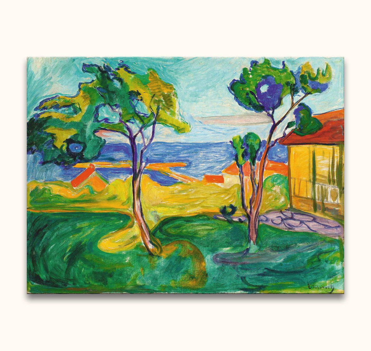Edvard Munch - The Garden in Asgardstrand