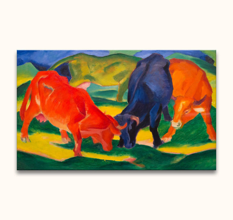 Franz Marc – Fighting Cows