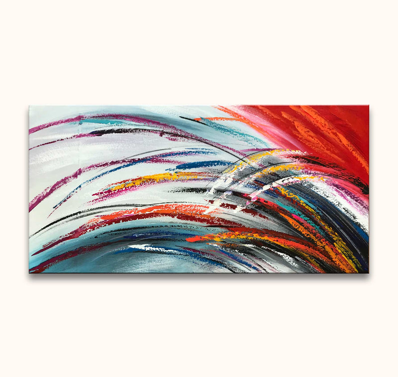 Feathers - Olieverf op canvas