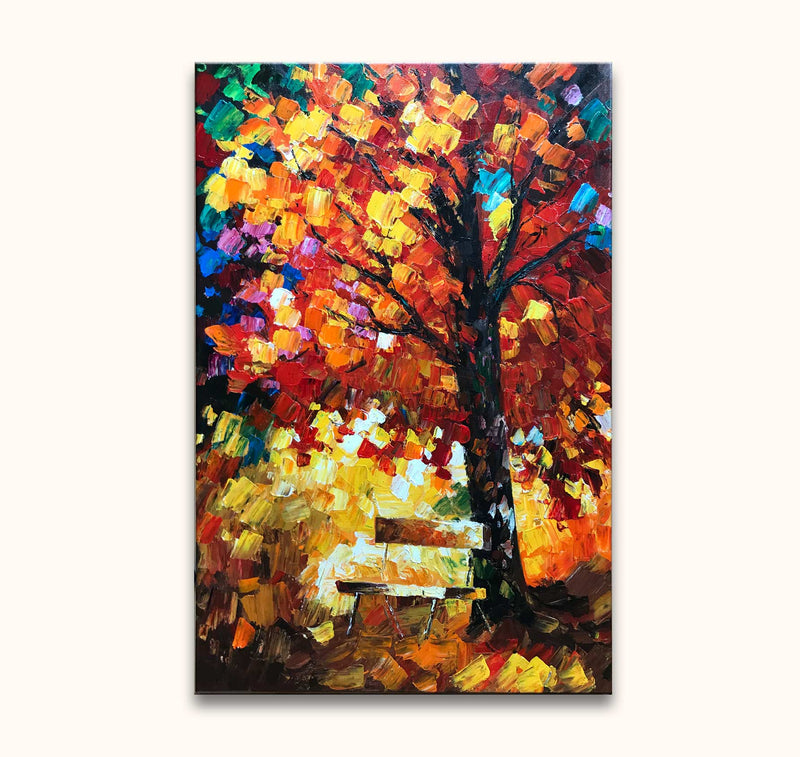 Leonid Afremov - Tree in a Park