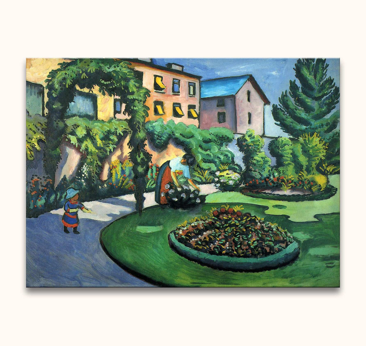 August Macke – Leraren in de Tuin