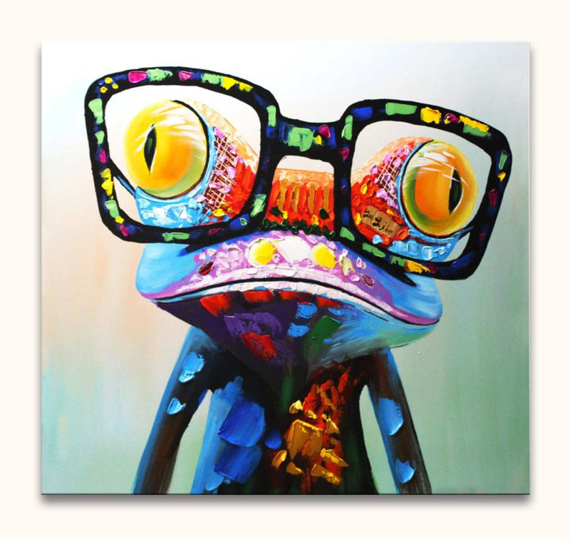 Wise Frog - Olieverf op canvas
