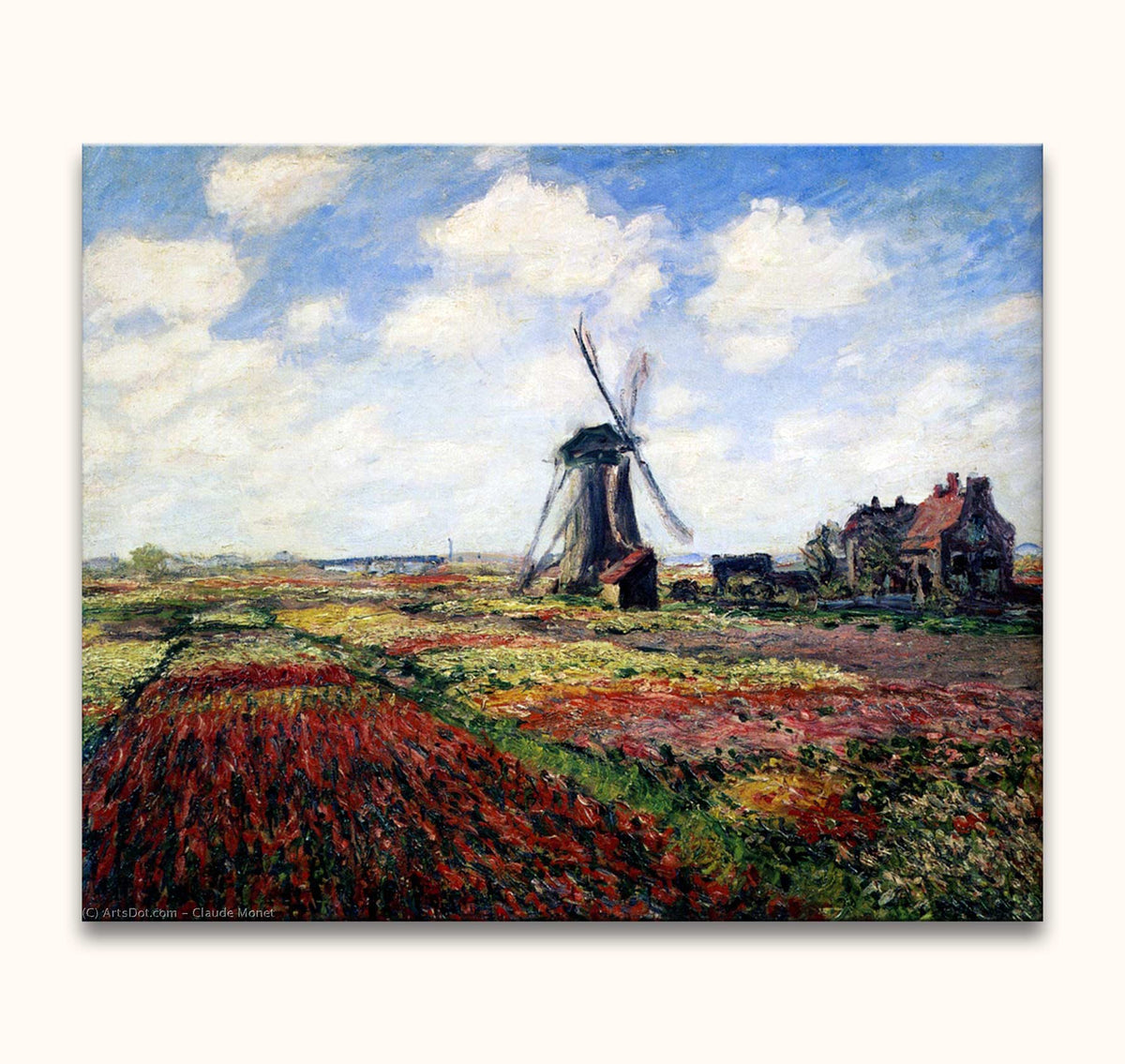 Claude Monet – Molen in Bloemenveld