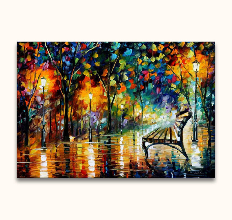 Leonid Afremov - View on a Rainy Park