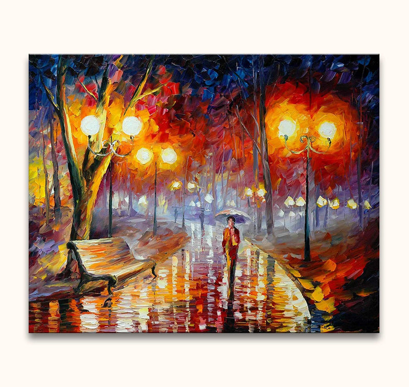 Leonid Afremov - Lonely in a Rainy Park