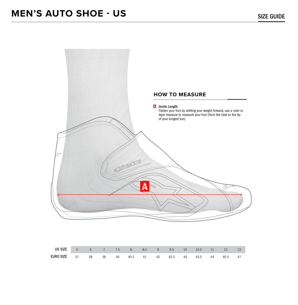 Karting Shoe Size