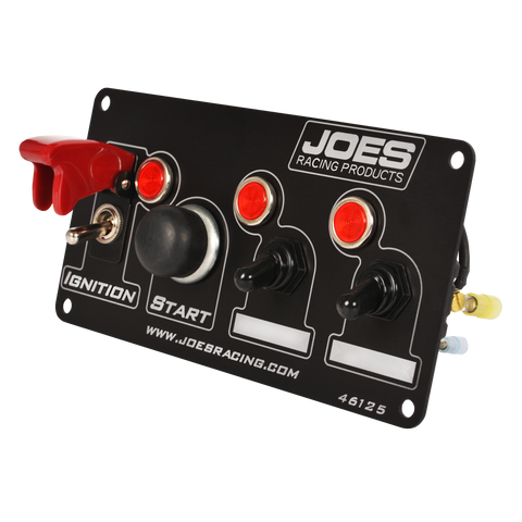 JOES Racing Switch Panel: Ignition, Start, 2 Accessory w/ Lights