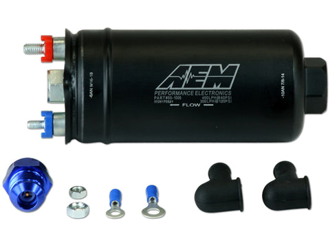 AEM 400LPH High Pressure Fuel Pump -6AN Female Out, -10AN Female In