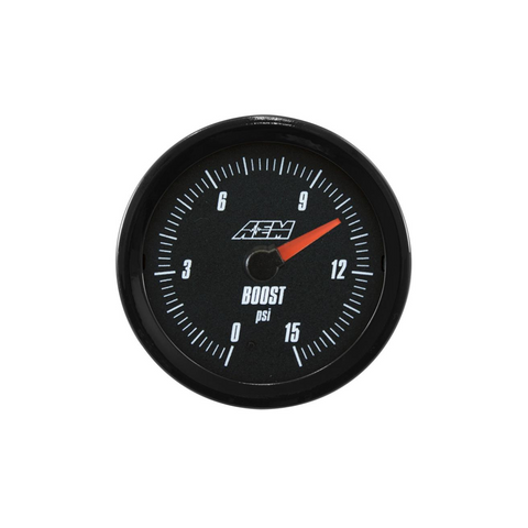 AEM Analog Style 15 PSI Fuel/Low Boost Pressure Gauge
