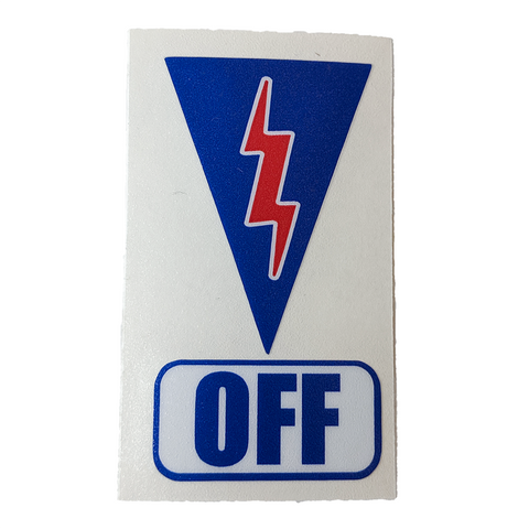 Safety Cut Off Switch Sticker