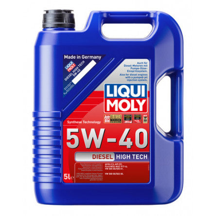 Liqui Moly 5L Diesel High Tech Motor Oil 5W-40