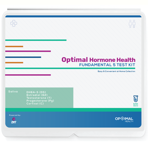 Optimal Hormone Health - Fundamental 5 - Estradiol (E2), Progesterone (Pg), Testosterone (T), DHEA-S (DS), Cortisol (Cx1) (Saliva)