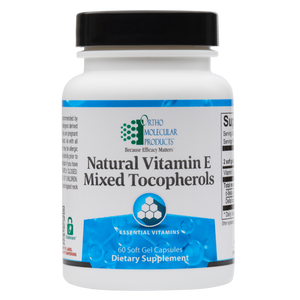 Natural Vitamin E Mixed Tocopherols 60 Soft Gel Capsules Ortho Molecular Products
