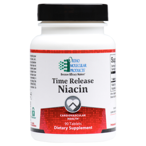 Time Release Niacin 90 Tablets Ortho Molecular Products