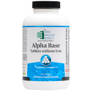 Alpha Base Tablets without Iron 180 Tablets Ortho Molecular Products