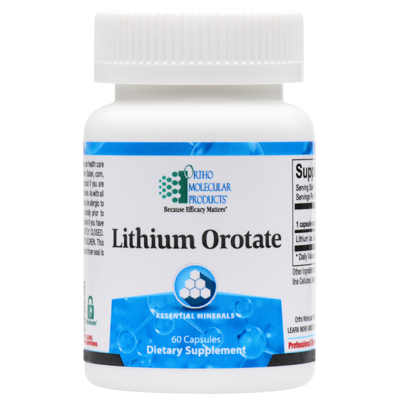 Lithium Orotate 60 Capsules Ortho Molecular Products