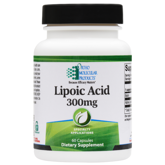 LIPOIC ACID 300 MG 60 Capsules Ortho Molecular Products