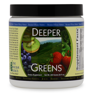 Deeper Greens Powder 240 Grams Ortho Molecular Products