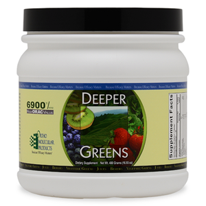 Deeper Greens Powder 480 Grams Ortho Molecular Products