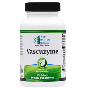 Vascuzyme 180 Tablets Ortho Molecular Products