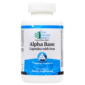 Alpha Base Capsules w/ Iron 240 Capsules Ortho Molecular Products