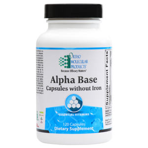 Alpha Base Capsules without Iron 120 Capsules Ortho Molecular Products