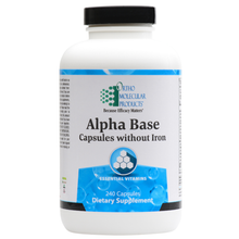 Load image into Gallery viewer, Alpha Base Capsules without Iron 240 Capsules Ortho Molecular Products