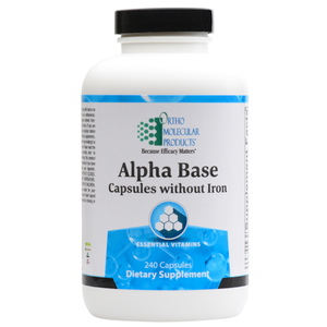 Alpha Base Capsules without Iron 240 Capsules Ortho Molecular Products
