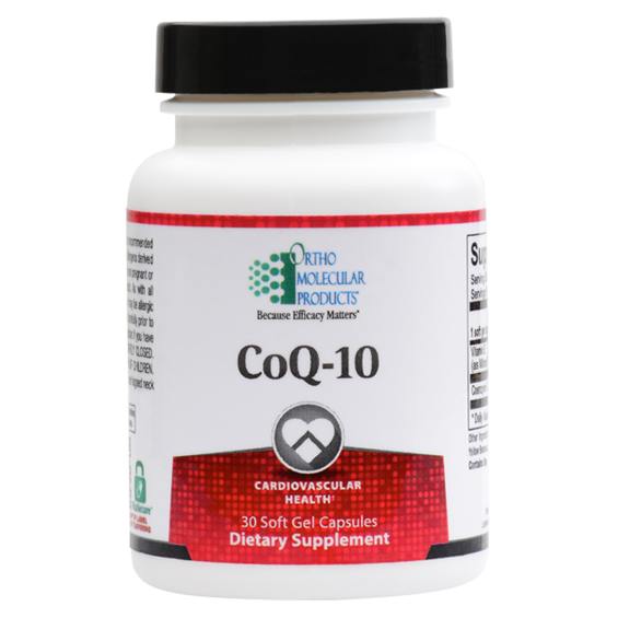 CoQ-10 30 Soft Gels Capsules Ortho Molecular Products