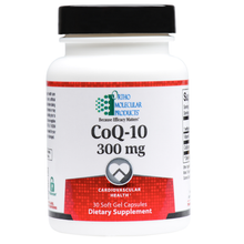 Load image into Gallery viewer, CoQ-10 300 MG 30 Soft Gels Capsules Ortho Molecular Products