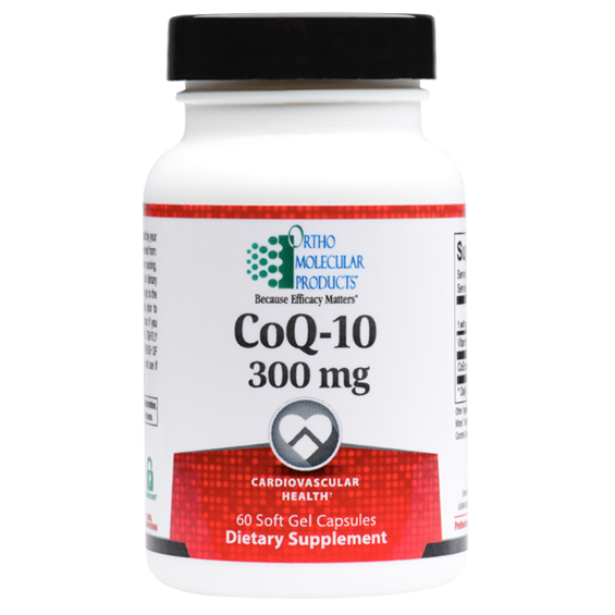 CoQ-10 300 MG 60 Soft Gels Capsules Ortho Molecular Products