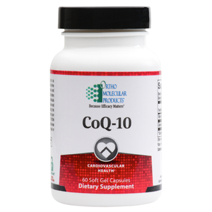 CoQ-10 60 Soft Gels Capsules Ortho Molecular Products