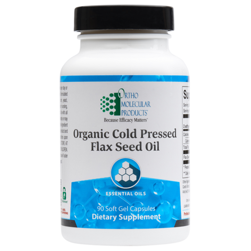 Flax Seed Oil 90 Soft Gel Capsules Ortho Molecular Products